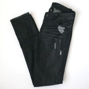 Genetic Denim coal distressed skinny jeans Shane